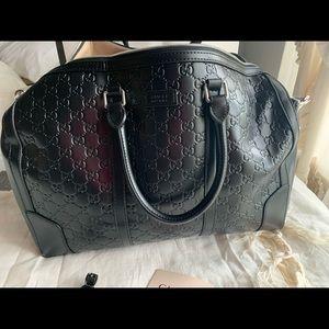Designer inspired duffle bag